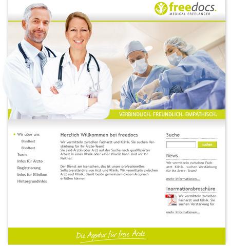 Professionelle Website für Dienstleistung und Personalvermittlung